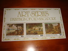Singapore 1976 Art Series, Paintings of Old Singapore M/S, MNH