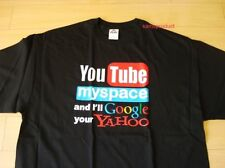 Funny T-Shirt You Tube Yahoo Black Color (Size L)