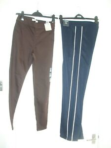 M&S & LIMITED EDITION SIZE 8 SHORT 2 PAIRS JEGGINGS & STRAIGHT LEG PULL ON TROUS
