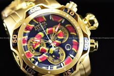 Invicta Men's 52mm Reserve King Venom Coral Snake Swiss Chrono 24K Gold SS Watch