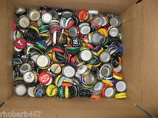Lot of 600+ Used Beer Bottle Caps Crafts Collectibles Scrapbooking for Charity