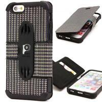 Urcover® Handy Schutz Klapp Hülle für iPhone 6 6s Flip Case Cover Wallet Tasche