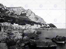 MARINA grande CAPRI Campania Italia 1897 Old BW FOTO STAMPA POSTER 687bwb