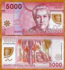 Chile, 5000 (5,000) Pesos, 2009, Polymer, P-163a, UNC