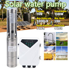 """4""""Deep Well Submersible Pump Dc Deep Solar Water Pump w/6.6ft Long Electric Cord"""