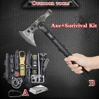 Survival Kit Camping Axe Set Outdoor Tactical Hunting Hatchet EDC Emergency Gear