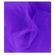 "Purple Tulle Fabric NET STRETCH 25"" x 25"" fine mesh  Doll Costume,craft"