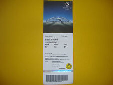 16/17 Ticket BVB Borussia Dortmund - Real Madrid Eintrittskarte Sammler EC