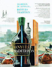PUBLICITE ADVERTISING 115  1963  BANYULS  TRADITION vin apéritif  BARTISSOL