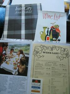 Collection of railway dining car menus