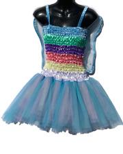 Adult Womens Tutu Costume /Fairy dress 7 layer Pastel Rainbow
