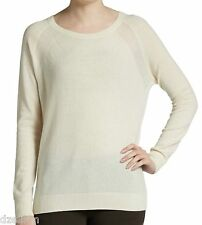 NWT $325 Vince Cashmere Sheer Panels Sweater Size S