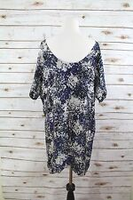 Club Monaco Loose Fit Silk Fully Lined Abstract Print Open Back Dress sz XS