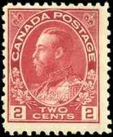 Canada #106 mint F+ OG NH 1917 King George V 2c carmine Admiral CV$20.00
