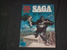 1977 JANUARY SAGA MAGAZINE - KING KONG BACK ON TOP - ILLUSTRATED COVER - CW 360