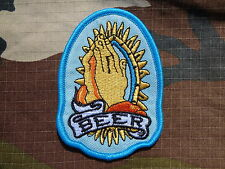 ECUSSON PATCH THERMOCOLLANT BEER rockabilly métal biker trike country hard rock