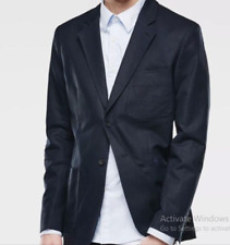 G Star Omega Two Buttons Linnen Blue Blazer Jacket Mens Size 50 *Ref38