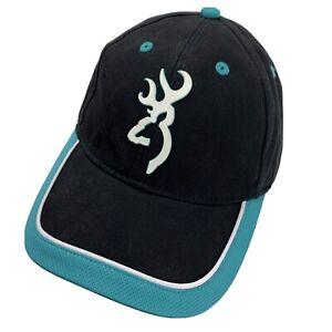 Browning Black Blue Ball Cap Hat Adjustable Baseball