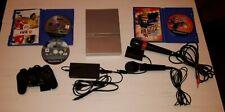 PS2 Konsole Slim Silber Sony Playstation 2 + Spiele Voll Funktionsfähig