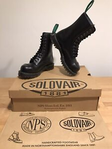 NPS SOLOVAIR Black Shine 11 Eye Steel Toe Derby Boot! SizeUK5! New!Only £159.90!
