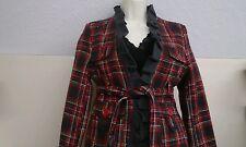 DollHouse OuterWear Women's Jacket sz. M Wool Red/Black Plaid NWT