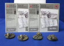 Axis & Allies Miniatures BASE SET 30/48 4 Pak 38 Antitank Guns + Stat Cards GE10
