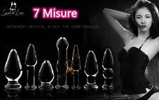 Plug Anale Stimolatore Vetro Glass Anal Plug Fallo Vari Misure Dildo Sex Toy
