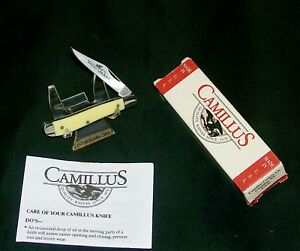 """Camillus 710 Yello-Jaket Knife USA Circa-1990's 2-3/4"""" Closed W/Packaging,Papers"""