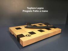 Tagliere cucina verdura in legno pregiato fatto a mano artigianale pezzo unico