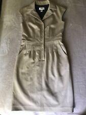 Talbots Beige Cap Sleeve Lined V-Neck Sheath Dress Womens Size 4 Petite