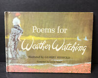 Vtg Poems For Weather Watching Childrens Book 1963 HC By Gilbert Riswold