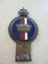Vintage Royal Navy car badge for Austin Morris MG Jaguar Rover Wolseley Riley