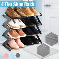 4 Tier Shoe Rack For 10 Pair Wall Bench Shelf Closet Organizer Storage Box Stand