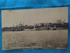 Constantinople Turkey  Vintage Card 1928  Harbour Sailboat. Photograph  Postcard