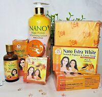 NANO MAGIC POTION WHITENING LOTION + NANO EXTRA WHITE SOAP + SERUM + FACE CREAM