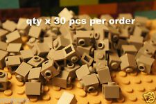 LEGO 87087 Medium Stone Gray 1x1 BRICK 1 x 1 w/ Knob Stud on 1 Side - 30 pcs