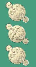 "2019 Australian $1 One Dollar Coin Set "" A,S,U, 35 "" Privy Mark - UNC - RARE"
