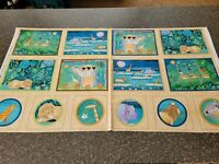 The Migration Panel 23x42 Julia Cairns Quilting Treasures African Blocks Animals