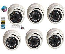 6PCS HD-CVI 2.4MP 1080P HD-TVI HD-AHD Analog Dome Camera Sony CMOS 4 IN 1 Camera