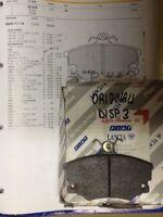 serie pastiglie freni anteriori AUTOBIANCHI Y10 TURBO 1.3 GT i.e  WVA 20833 orig