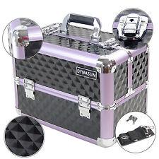 DynaSun BS36 XXL Black Purple Beauty Case Vanity Cosmetic Make Up Organizer Box