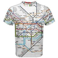 London Underground Tube Map Sublimated Mens Sport Mesh T-Shirt  XS-3XL Free Ship