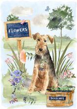 "Welsh Terrier Dog (4"" x 6"") Blank Card/ Notelet Design By Starprint"
