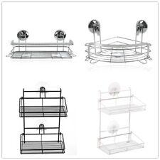 1/2 Layer Shower Caddy Wall Shelf Bathroom Bath Rack Storage Holder Organizer