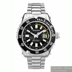GANT Uhr Pacific W70641 Herren Taucher Armbanduhr 1000m wasserdicht Edelstahl