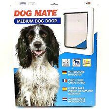 Pet Door Cat Dog Mate Medium Door Flap Passage Locking Panel Wall Installation