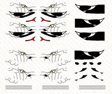 Custom Order:  Aircraft snake nose Waterslide Decals for action figure vehicle