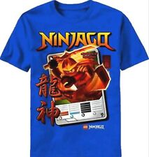 Lego Ninjago Masters of Spinjitzu t-shirt 14-16 L XL Childs Blue Short Sleeve