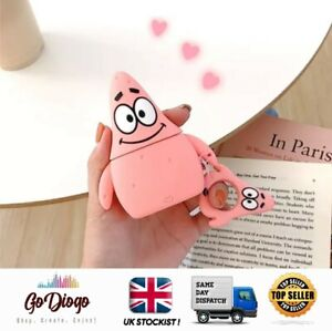 Patrick Star Novelty Case For Apple Airpod 1/2  UK STOCK/ SELLER FAST DELIVERY