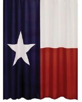 Texas Lone Star State Flag Polyester Bathroom Shower Curtain with Hooks New